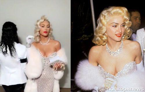 Ким и Кортни Кардашьян примерили образы Мадонны и Майкла Джексона на Хэллоуин