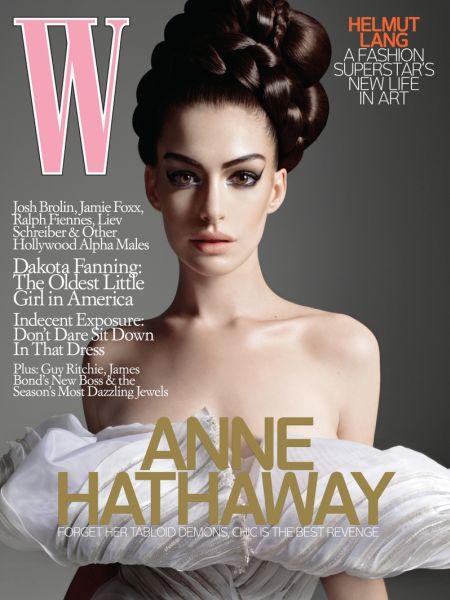 Энн Хэтэуэй в журнале W. Октябрь 2008