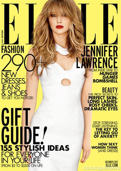Дженнифер Лоуренс в журнале Elle. Декабрь 2012