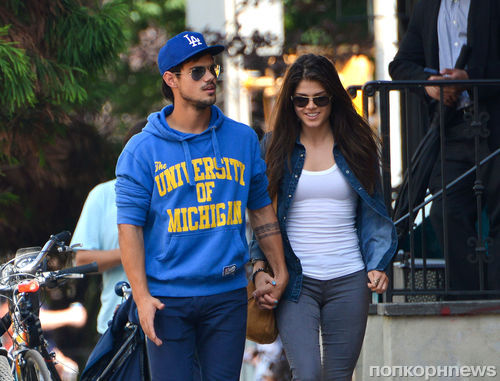 Тейлор Лотнер и его новая девушка на романтическом свидании в Нью-Йорке