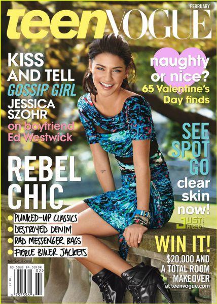 Джессика Зор в журнале Teen Vogue. Февраль 2009