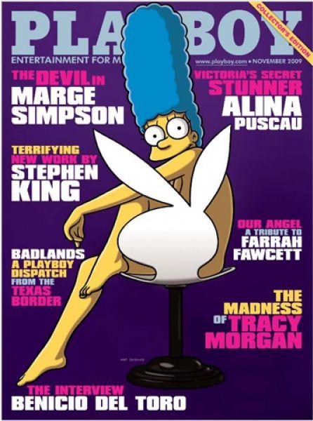 Мардж Симпсон в журнале Playboy
