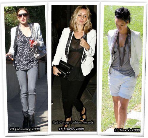 Fashion battle: Линсдей Лохан, Луиза Реднапп и Рианна
