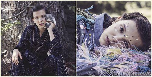 Милли Бобби Браун в фотосессии для январского Vogue Australia