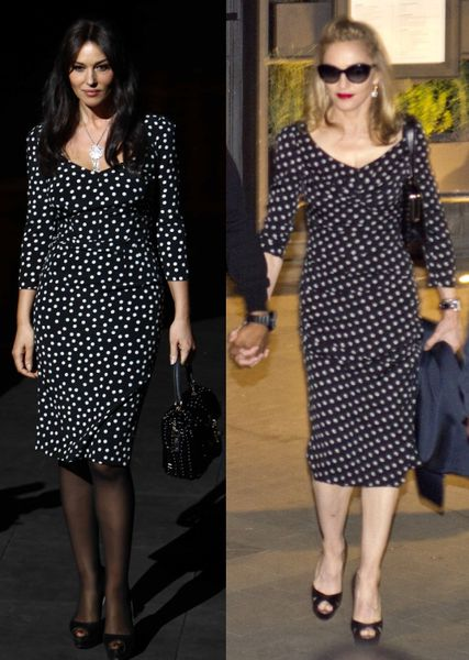 Fashion battle: Моника Беллуччи и Мадонна