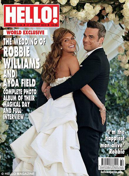 Официальное свадебное фото Робби Уильямса
