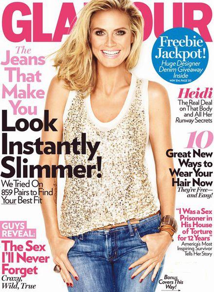 Хайди Клум в журнале Glamour. Август 2011