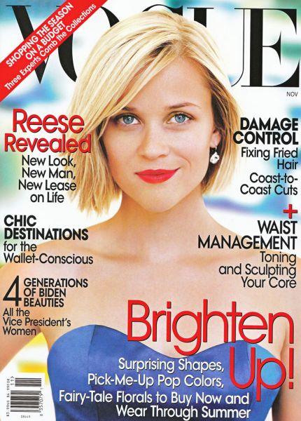Риз Уизерспун в журнале Vogue. Ноябрь 2008