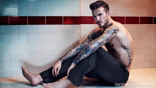 Дэвид Бекхэм в рекламной кампании нижнего белья H&M. Осень / зима 2013-2014