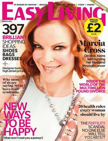 Марсия Кросс в журнале Easy Living. Март 2012