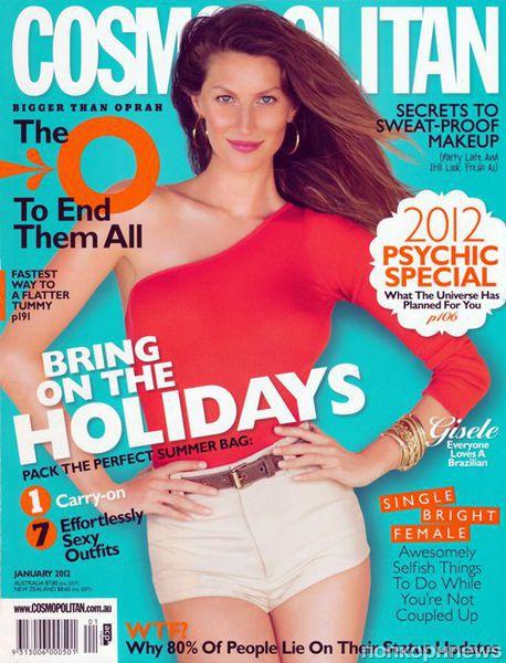 Жизель Бундхен в журнале Cosmopolitan Австралия. Январь 2012