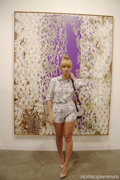 Бейонсе на выставке в Майами