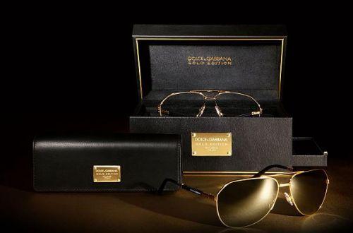 Интересные штучки: золотые очки от Dolce & Gabbana