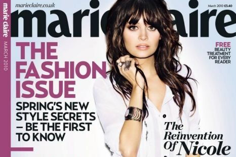 ������ ���� � ������� Marie Claire UK. ���� 2010