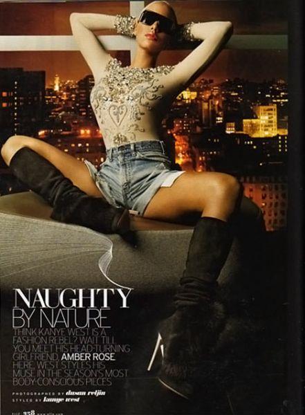 Эмбер Роуз в журнале Elle. US. Октябрь 2009