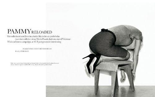 Памела Андерсон в журнале ELLE. Великобритания. Сентябрь 2009