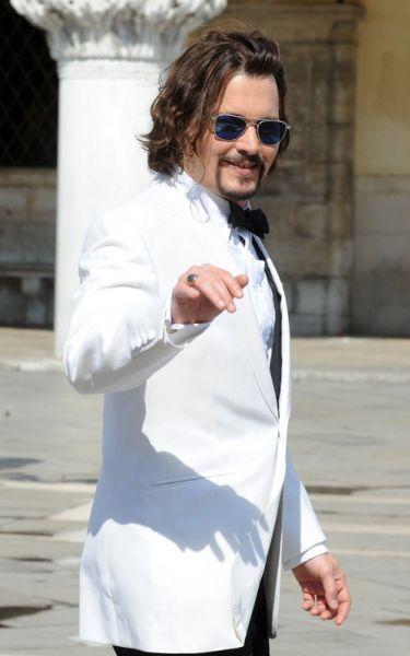 Джонни Депп на съемах фильма «Турист» 13 мая