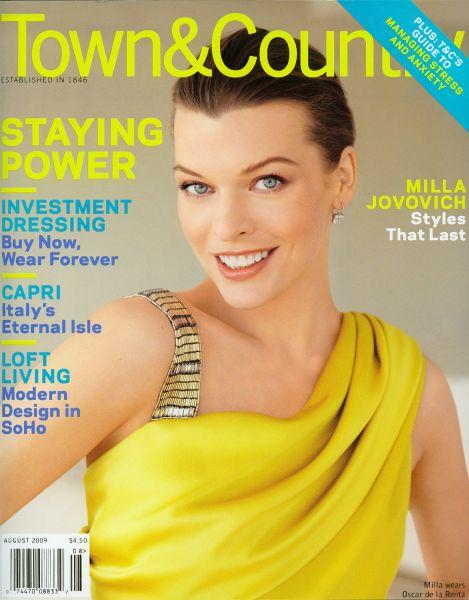 Милла Йовович в журнале Town&Country. Август 2009
