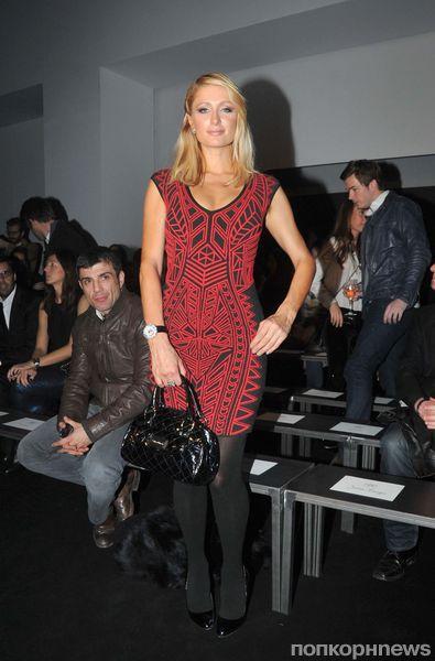 Пэрис Хилтон на модном показе Mango в Барселоне