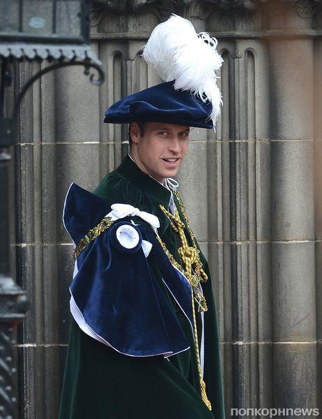 Принц Уильям стал рыцарем ордена Чертополоха