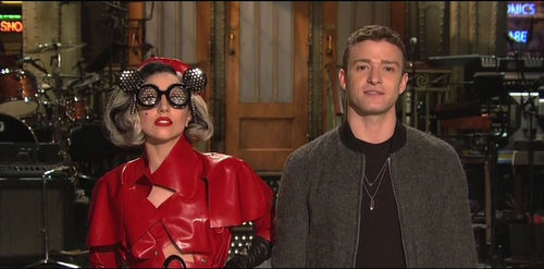 Lady GaGa и Джастин Тимберлейк на шоу Saturday Night Live