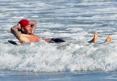 Дэвид Бэкхем: выходные на пляже