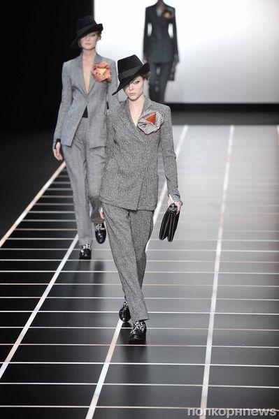 Модный показ Giorgio Armani. Осень / зима 2012-2013
