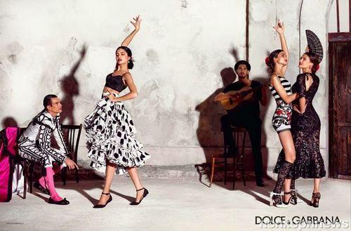 Бьянка Балти в рекламной кампании Dolce & Gabbana. Весна 2015