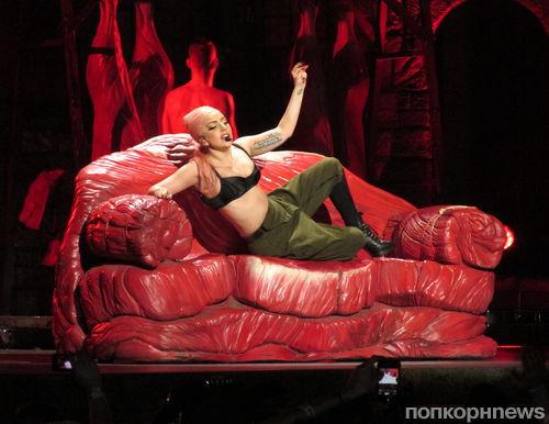 В райдер Lady GaGa входит манекен с розовыми волосами ниже пояса