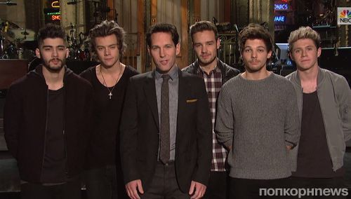 Пол Радд и One Direction в промо-ролике шоу SNL