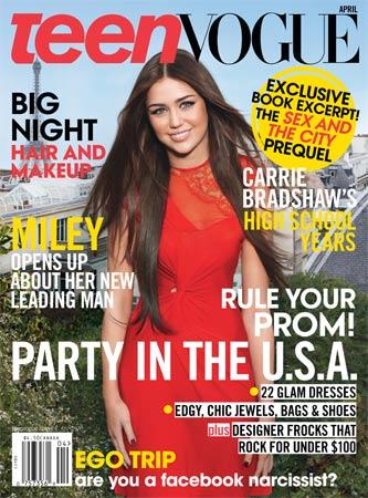 Майли Сайрус для журнала Teen Vogue. Апрель 2010