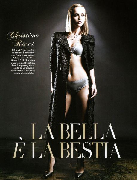 Кристина Риччи в журнале Vanity Fair Италия. Октябрь 2008