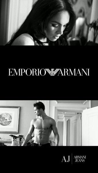 Криштиану Роналду и Меган Фокс в рекламе Emporio Armani / Armani Jeans