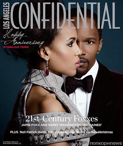 Джейми Фокс и Керри Вашингтон в журнале Los Angeles Confidential. Декабрь / январь 2012-2013