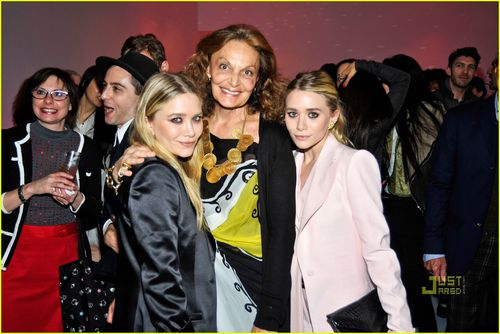 Мэри-Кейт и Эшли Олсен на вечеринке Swarovski