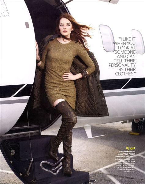 Эмма Стоун в журнале InStyle. Октябрь 2010
