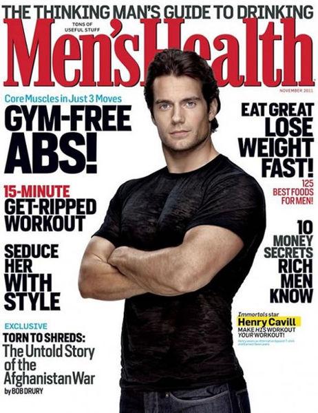 Генри Кэвилл в журнале Men's Fitness. Ноябрь 2011