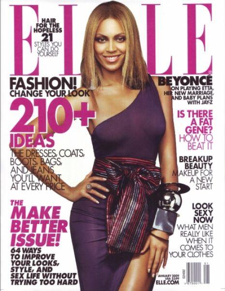 Бейонсе Ноулз в журнале ELLE. Январь 2009