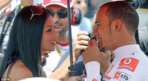 Николь Шерзингер и Льюис Гамилтон на Grand Prix в Турции