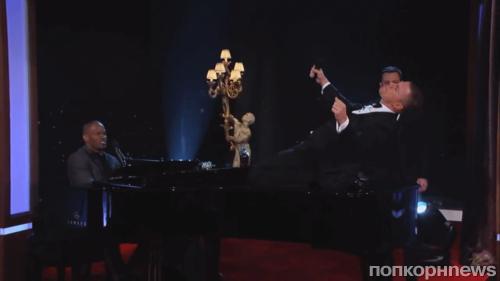 Джейми Фокс и Ченнинг Татум на шоу Джимми Киммела