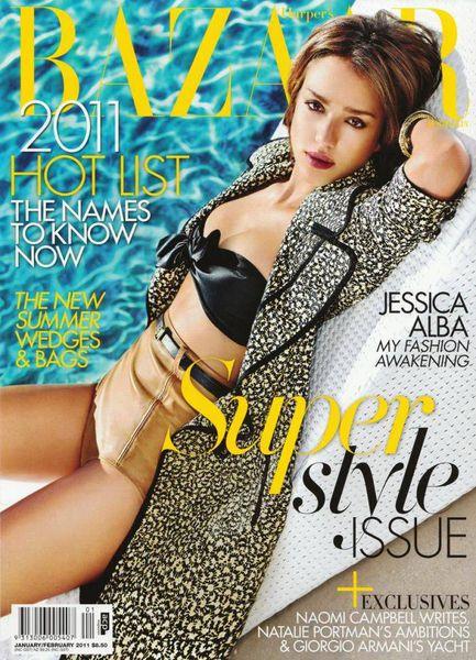 Джессика Альба в журнале Harper's Bazaar. Австралия. Январь / Февраль 2011