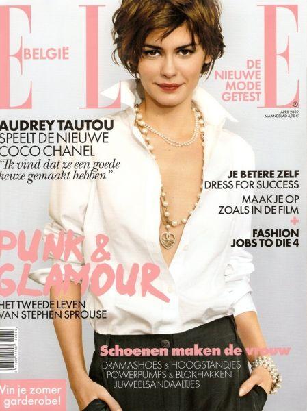 Одри Тату в журнале Elle. Бельгия. Апрель 2009