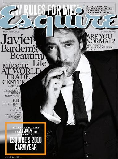 Хавьер Бардем в журнале Esquire. Октябрь 2010