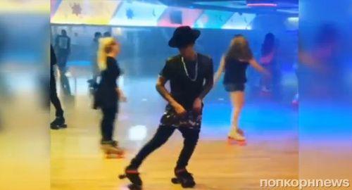 Видео: Джастин Бибер танцует на роликах