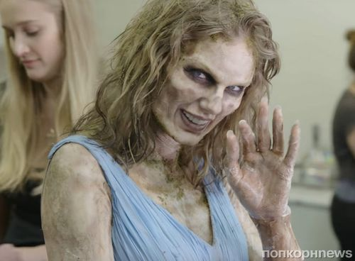 Видео: как Тейлор Свифт превращали в зомби для съемок клипа Look What You Made Me Do
