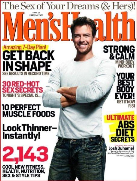Джош Дюамель на обложке журнала MEN'S HEALTH