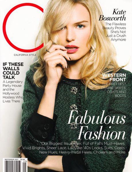 Кейт Босуорт в журнале California Style. Сентябрь 2011