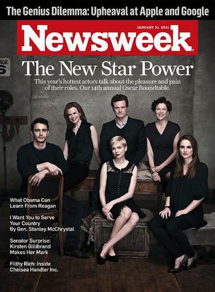 "Номинанты на ""Оскар"" на обложке журнала Newsweek"