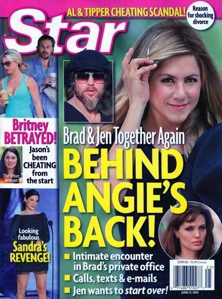 Star: Брэд Питт и Дженнифер Энистон тайно видятся за спиной у Анджелины Джоли