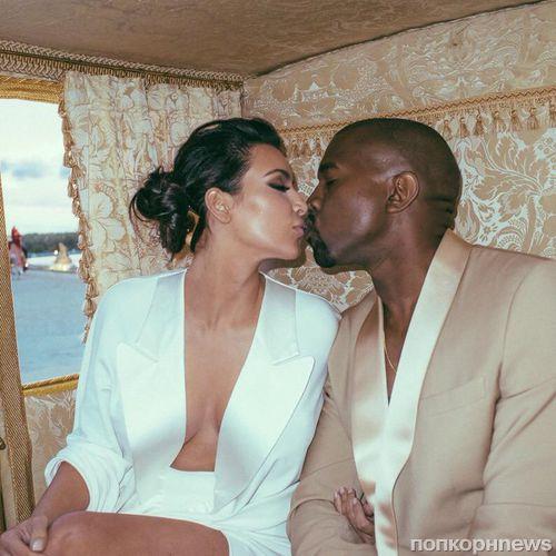 Ким Кардашян и Канье Уэст отметили первую годовщину свадьбы